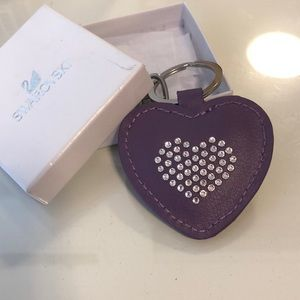Swarovski Violet Heart Key Chain with Crystals